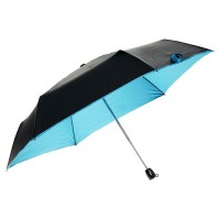 Миниатюрный зонт Olycat Small Black Folding Umbrella Blue