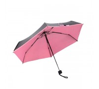 Миниатюрный зонт Olycat Small Black Folding Umbrella Pink