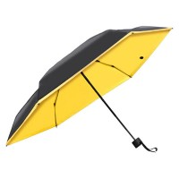 Миниатюрный зонт Olycat Small Black Folding Umbrella Yellow